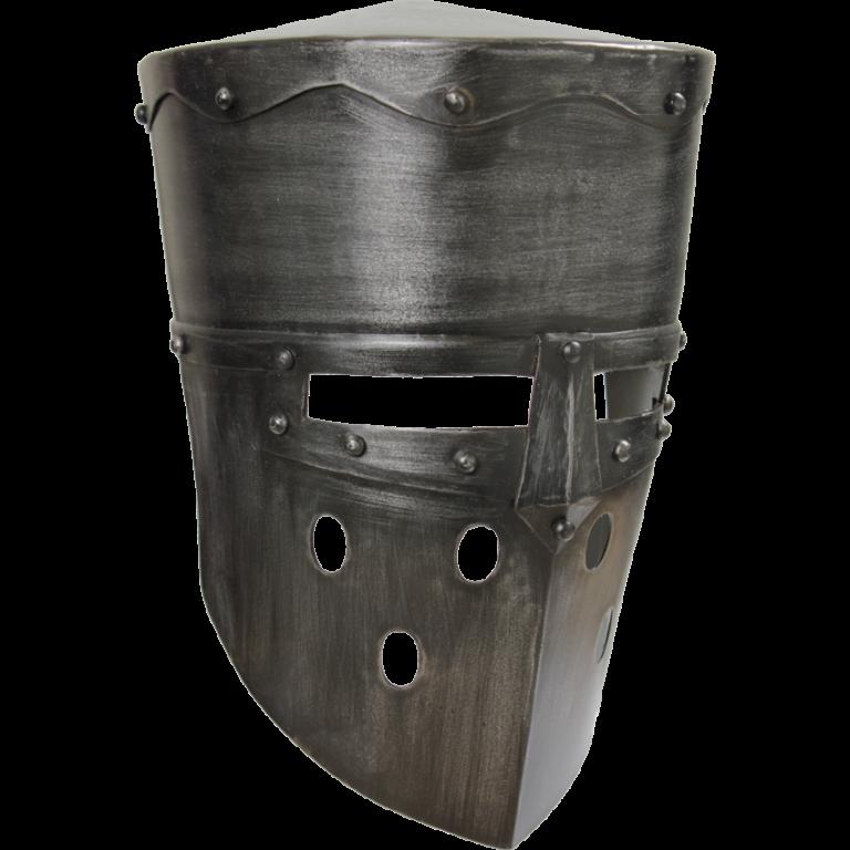 Crusader Helmet – Dark Metal Finish 1