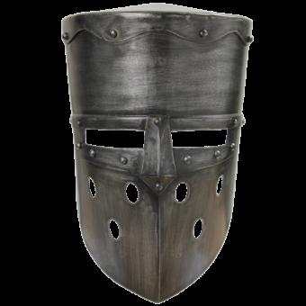 Crusader Helmet – Dark Metal Finish 2