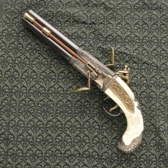 Double Barrel Turn Over Pistol