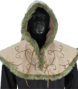 Embroidered Hood with Fur 3