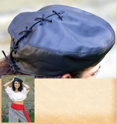 Leather Beret 1