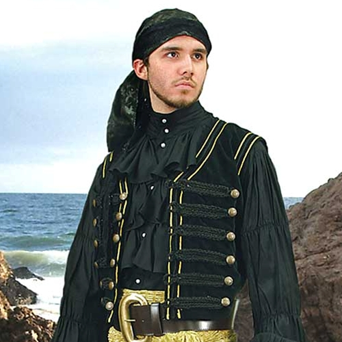 Black Pirate Vest