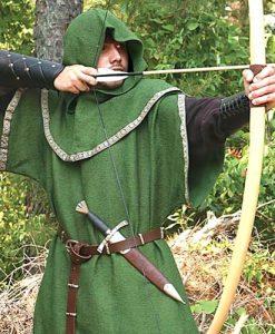 Huntingdon Green Over Tunic with Hood