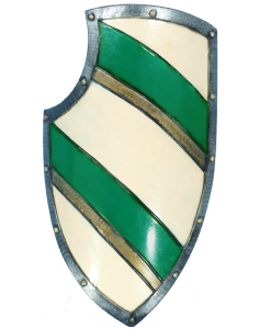Knight's LARP Shield - Green/White