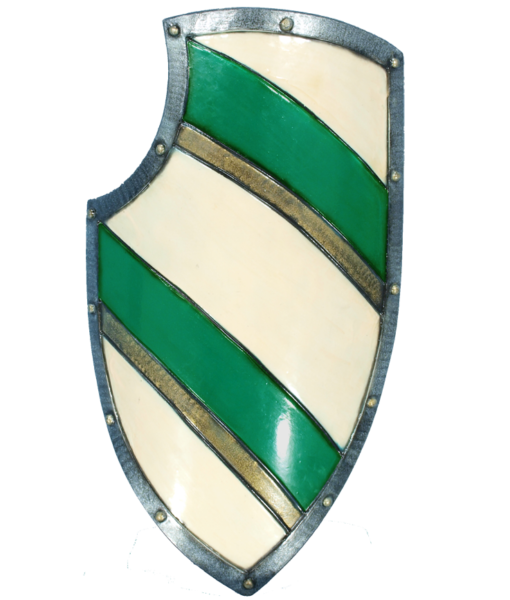 Knight's LARP Shield – Green/White 1