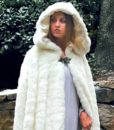 Snow Queen Faux Fur Hooded Cape Cloak