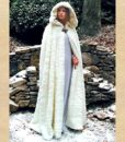 Snow Queen Faux Fur Hooded Cape Cloak 2
