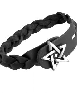 Pentagram- Gaelic Plait Bracelet