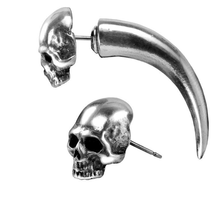 Tomb Skull Horn Earring 1