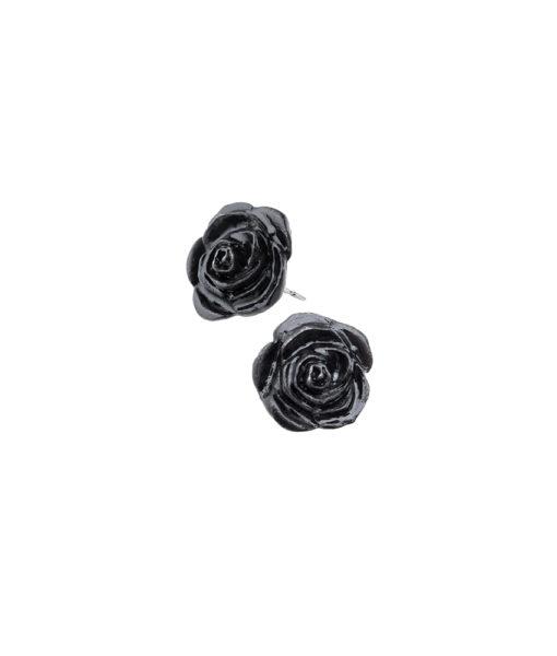 Black Rose Stud Earrings 1