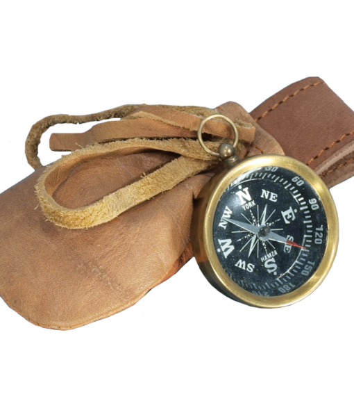 Compass with Leather Pouch 1