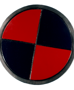LARP Black & Red Round Shield