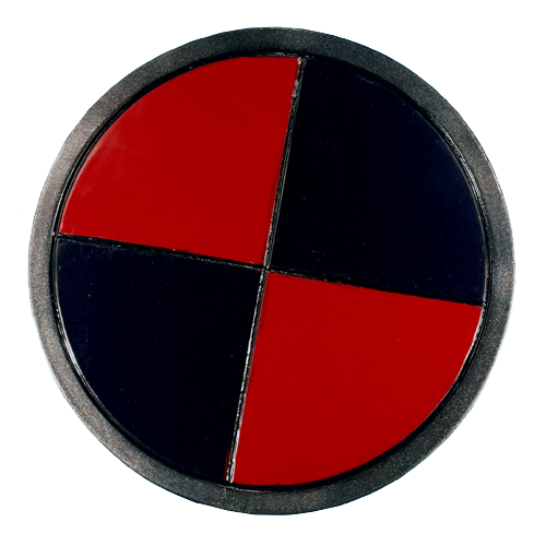 LARP Black & Red Round Shield 1