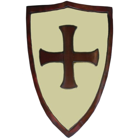 LARP Crusaders Shield – White and Red 1