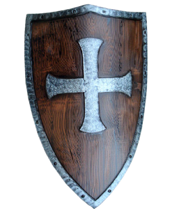 LARP Crusaders Shield - Wood and Metal