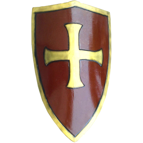 LARP Crusaders Shield – Red and Gold 1