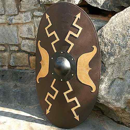 Wooden Oval Roman Shield 1