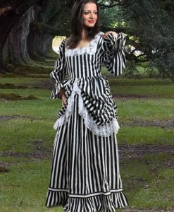 Beauty Of Stripe Gown