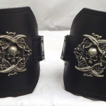 Latigo Pirate Wrist Cuffs or Wide Bracelets
