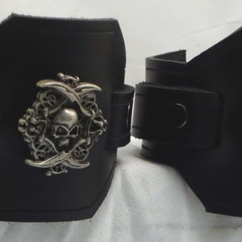 Latigo Pirate Wrist Cuffs or Wide Bracelets 4