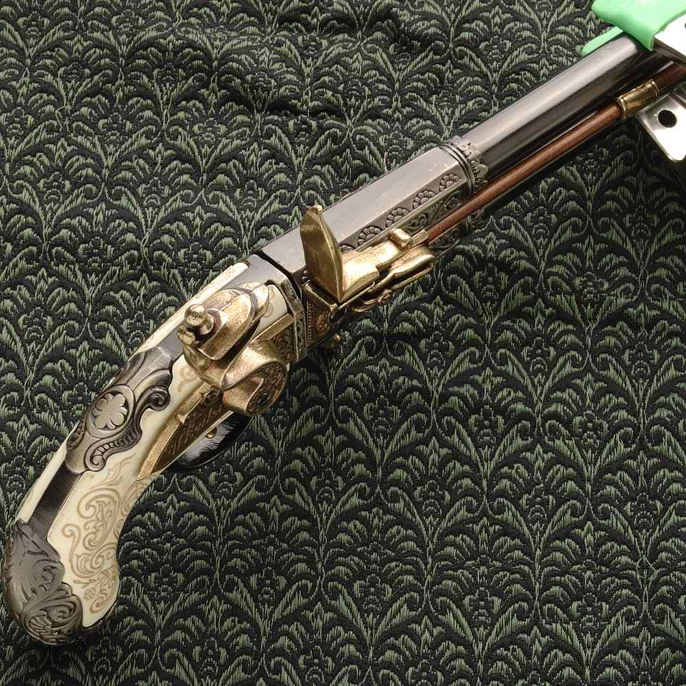 Double Barrel Revolver Pistol