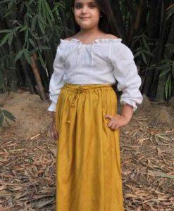 Girls Cotton Medieval Skirt