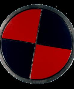 LARP Black & Red Round Shield