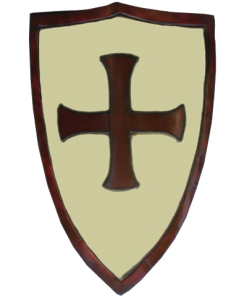 LARP Crusaders Shield - White and Red