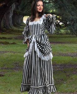 Beauty Of Stripe Gown